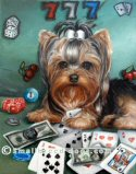 yorkie cards, yorkie, painting, Yorkie, Yorkshire Terrier, art
