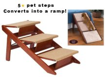 pet steps, pet ramp, dog ramp, dog steps, steps that turn into ramp
