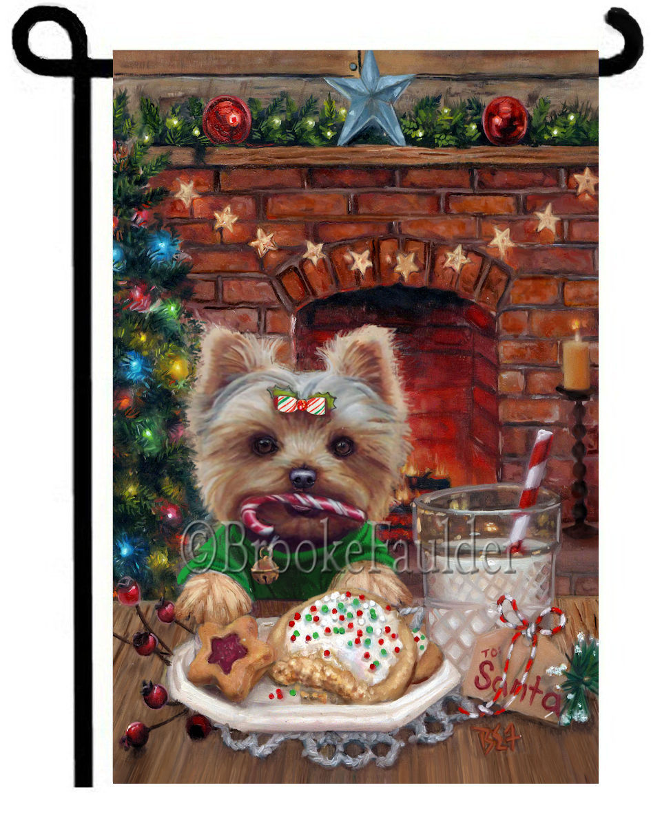 Yorkie and Christmas cookies