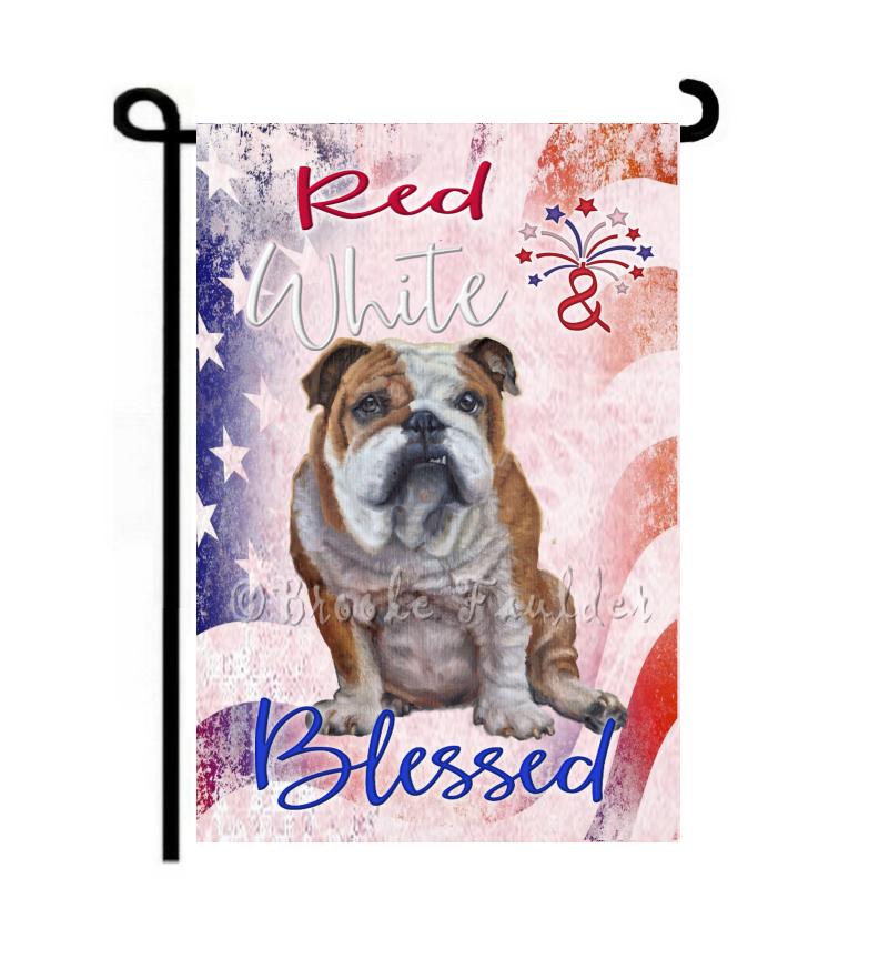 English bulldog flag july 4th