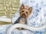 Yorkie, Yorkshire Terrier, Painting, dog art
