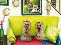Yorkie, Yorkshire Terrier, Painting, dog art, Yorkies