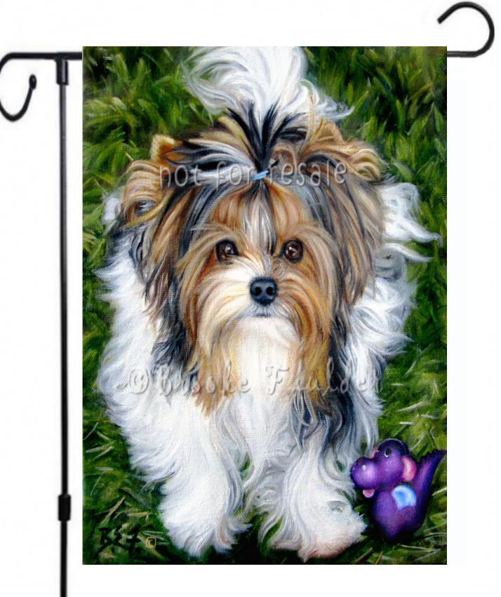 Biewer Terrier dog painting