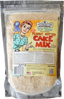 dog cake mix, peanut butter cake mix