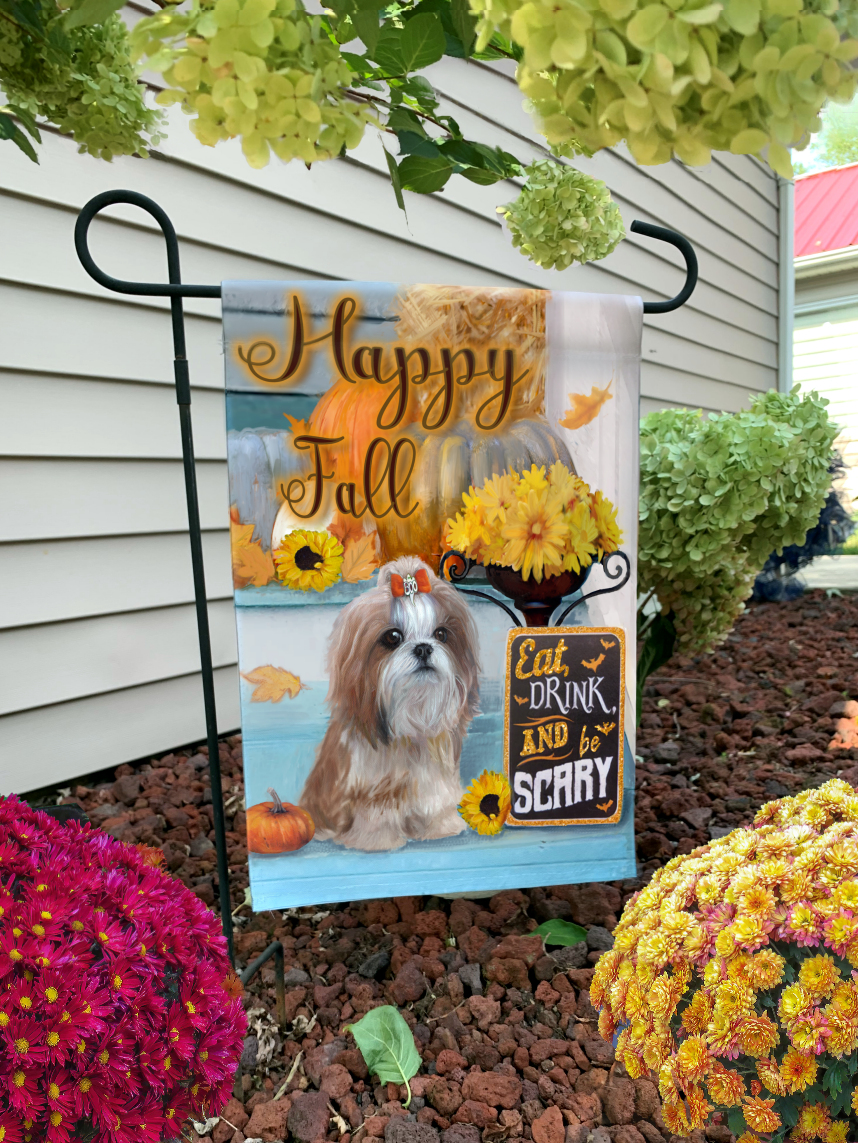 Easily personalized garden flag Painting by Brooke Faulder