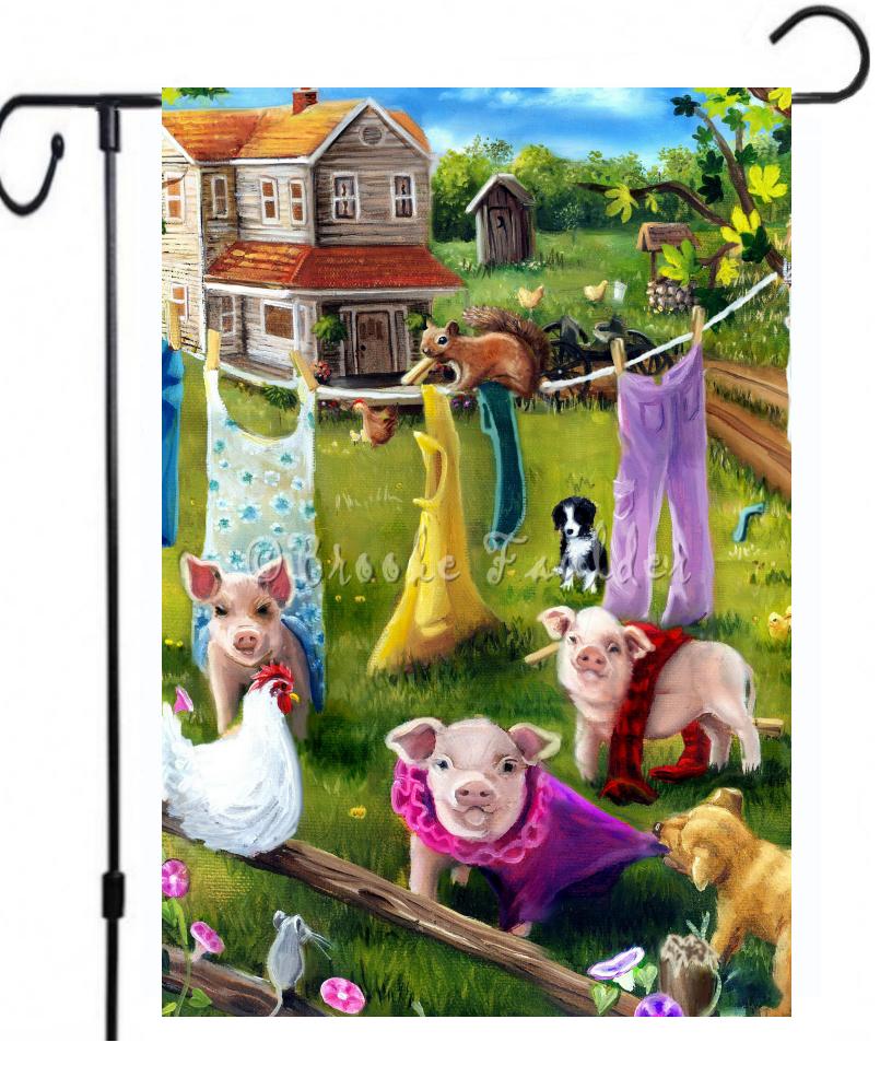 pig garden flag
