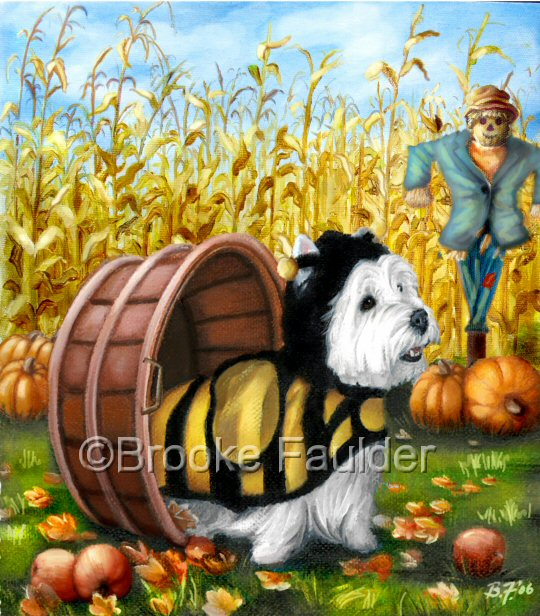 Country Westie is available for licensing along with most of the other images on this site. Though some are spoken for as far as certain products go, there are many other possible uses that I would love to see them become. Contact me if you represent a company looking for fun colorful animal art.