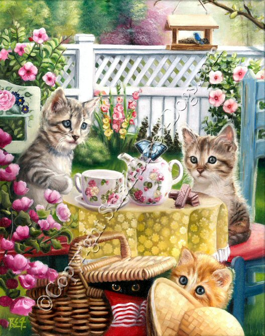 Kittens painting for sale