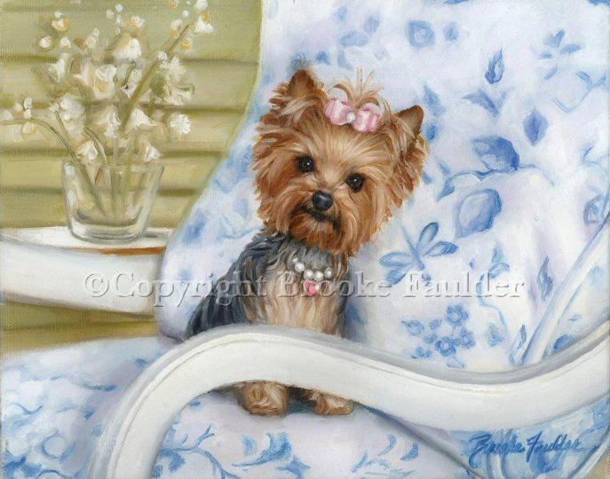 yorkie painting dog art