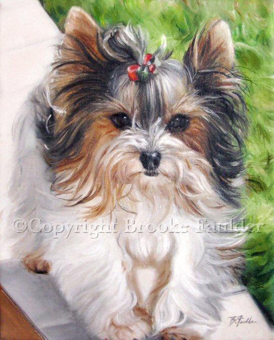 biewer terrier art painting
