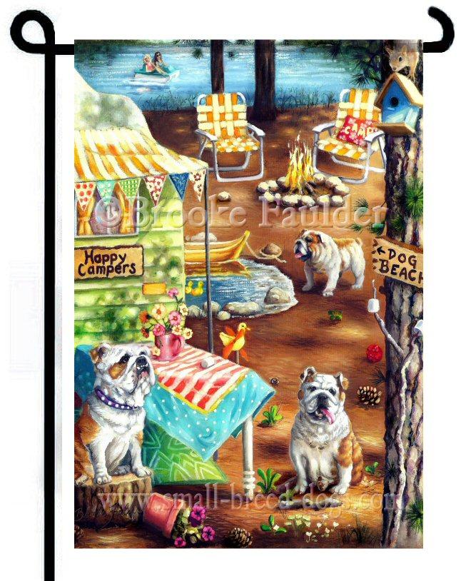 English Bulldog garden art