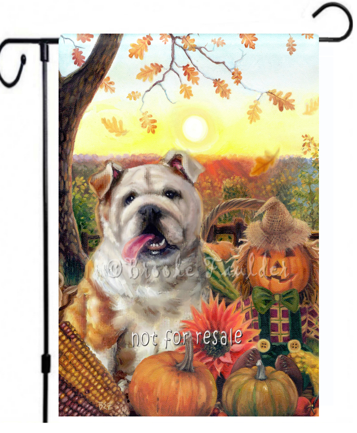 fall Bulldog flag