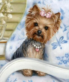 Yorkie painting by Brooke Faulder